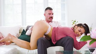 Strict daddy is spanking and fucking 19 yo stepdaughter Kendra Spade