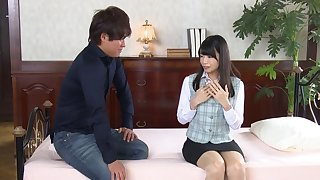 Fucking on the sofa with small tits Japanese Rie Takimoto. HD