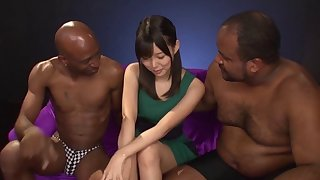 Interracial Japanese compilation with loads for cute girls