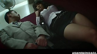 Big tittied plump chick Airi Ai is fucked hard by several horny guys