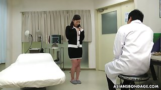 Kinky Asian doctor makes Maria Ono squirt plus fills her muff with sperm