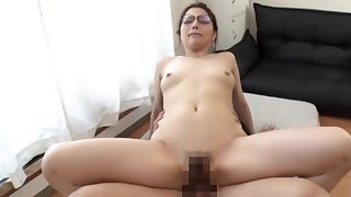 Amateur Asian porn on cam with the wife riding hard