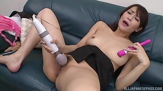 A pleasant solo Japanese play with toys be fitting of slay rub elbows with hot wife