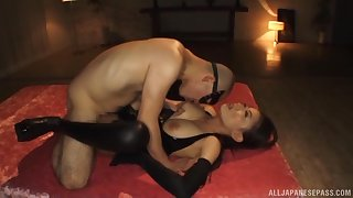 Lovely Japanese submissive lets Skillful do as he wishes